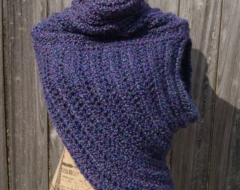 Huntress Vest/Archer Cowl- Purple Iris
