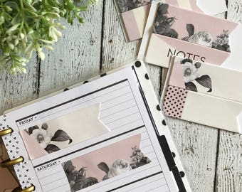 Floral Blush Sticky Notes Page Flags