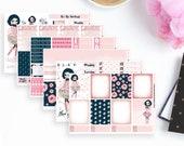 Pink & Navy Weekly Planner Sticker Kit   Erin Condren Planner Stickers   Any Planner Stickers