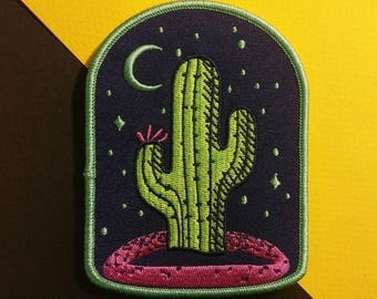 Cactus Moon Embroidered Patch
