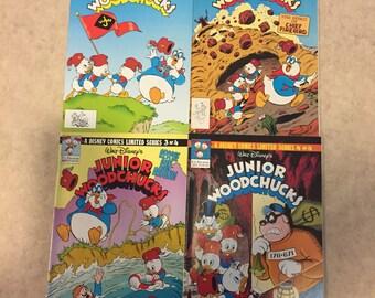 Vintage 1991 Walt Disney Junior Woodchucks Comic Book Complete Set #1-4 Limited Edition Series