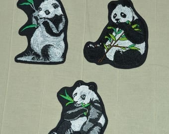 Choose panda embroidered patch