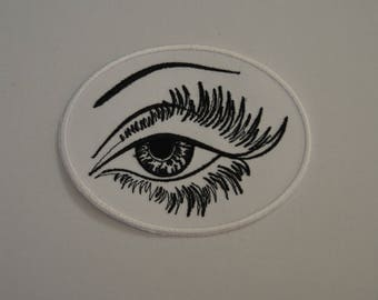 embroidered eye patch