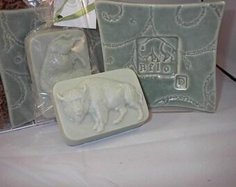 Buffalo soap and ceramic dish gift set - Sweetgrass