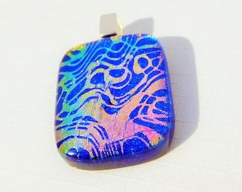 Lacey - beautiful handmade dichroic glass pendant