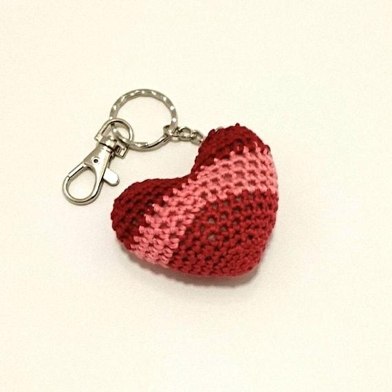 Heart Keychain Bagcharm crochet amigurumi teachers gift