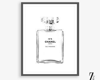 Chanel art printed Large Chanel wall art coco Chanel poster coco Chanel print coco Chanel wall art  chanel Chanel No.5 Sketch