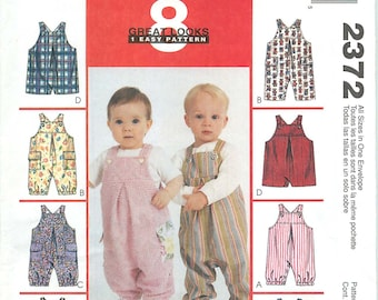 McCall's 2372 Sewing Pattern for Infant's/Baby Romper or Overalls in 4 Sizes