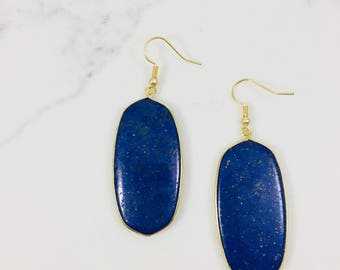 Blue lapis earrings // Fast and free shipping