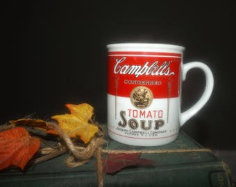Vintage (c.1994) Campbells | Campbell's Tomato Soup branded mug. Campbell's 125th Anniversary edition.