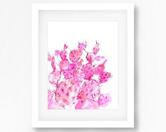 Pink Cacti Print