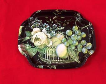 "Vintage English Tin Tray, RARE, Antique, 6"" x 8"" made in England"