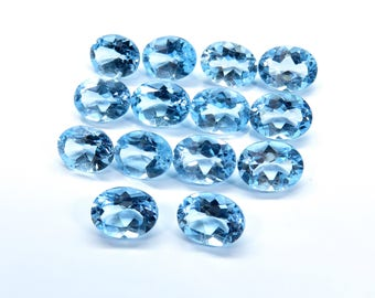 30 ct AAA quality Blue topaz heated from africa