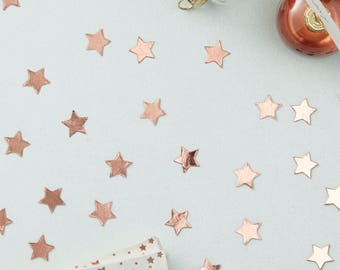 Rose Gold Star Confetti - Metallic Star -  Wedding Party | Hen party | Bachelorette Party | Christmas Table | New Year Party | Birthday