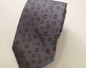 H.E.R.M.E.S tie twill silk 100% designer patten dress necktie(AUTHENTIC)
