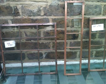 3 copper light windows (industrial chic) varying sizes