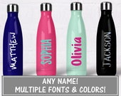 Name Decals for Water Bottles, Yeti Name Decal Custom Name Decal for Tumbler, Custom Vinyl Name Sticker, Glitter Decal Name Stickers