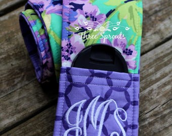 Camera Strap Cover, Camera Strap, Monogrammed Camera Strap, Padded Camera Strap, Tula Accessories -Emerald Bliss