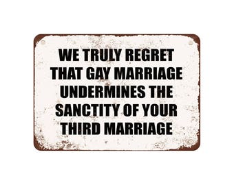 "is gay marriage ruining the sanctity The sanctity of marriage"" as an atheist i'm not even sure what this means - but it  appears to be ""as religious people we should be allowed to take control of a set."