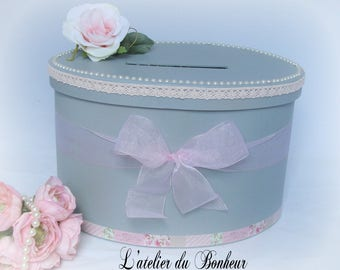 Shabby shic gray and pink with her big pink oval urn style