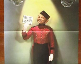1986 Art Directors Club 66th Annual Exhibition Call For Entries Poster Sheila McCaffrey Creepy Little Boy Bellhop Print