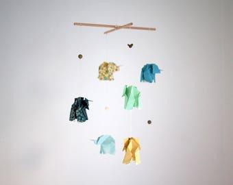 Origami elephant mobile