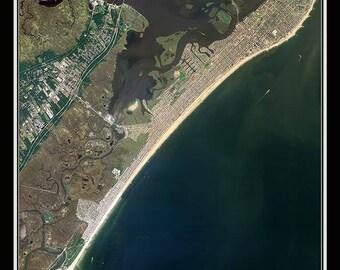 Ocean City New Jersey Satellite Poster Map