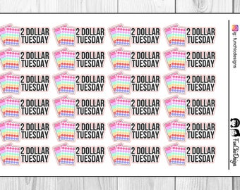 2 Dollar Tuesday Planner Stickers