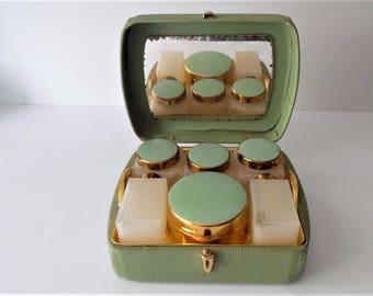 Vintage Sirram Vanity case. Beauty case. Retro vanity box. 1950s/60s vanity case. dressing table set.