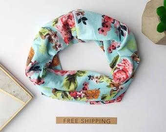 Baby scarf, infant scarf, toddler scarf, toddler scarf girl, baby scarves, toddler scarves, turquoise scarf, floral baby scarf, floral scarf