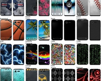 Choose Any 2 Designs - Vinyl Skins / Decals / Stickers for LG L34C Optimus Fuel Android Smartphone