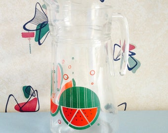 Bold, Graphic, 1980s, Watermelon Pitcher