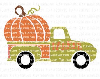truck svg - pumpkin svg - Pumpkin truck svg - Truck pumpkin svg - boy svg files - old truck svg - .SVG .EPS ,DXF - Flamingo and fawn