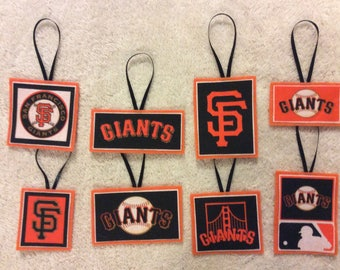 San Francisco Giants Christmas Ornaments-Set of 8