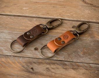 Leather Keychain, Leather Keyring, Leather Key Fob, Gift, Leather Key Chain, Leather Key ring, Horween Leather, Leather Key Sling, Leather