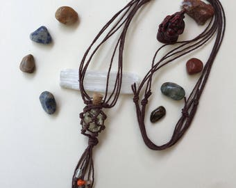 Peppermint Faerie Adjustable Hemp Necklace For Mirgranes