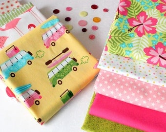 Summer Holiday Fat Quarter Fabric Bundle