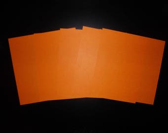 orange set of 5 origami paper 16 x 16 cm
