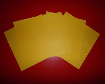 set of 5 sunny yellow origami 16 papers x 16 cm