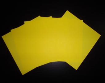 set of 5 paper origami yellow 12 x 12 cm