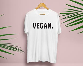 Vegan T Shirt in Black, White and Grey.