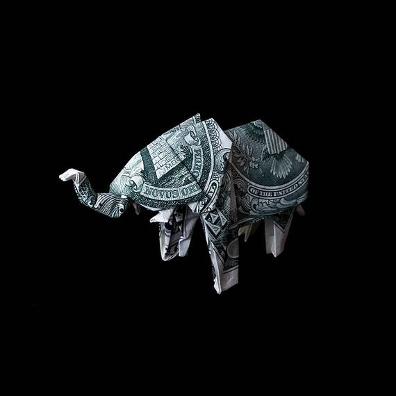 How to make origami elephant out of money - photo#42