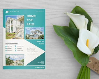 Real Estate Flyer Template , Relator Flyer,  Photoshop Template | Instate Download