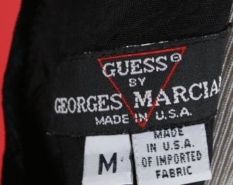 Guess by Georges Marciano Black Velvet Skorts Dress Medium Size