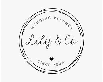 Heart logo, Feminine logo design, Premade logo, Logo wedding planner, Elegant logo, Simple branding, Business logo, Minimalist Design, logo