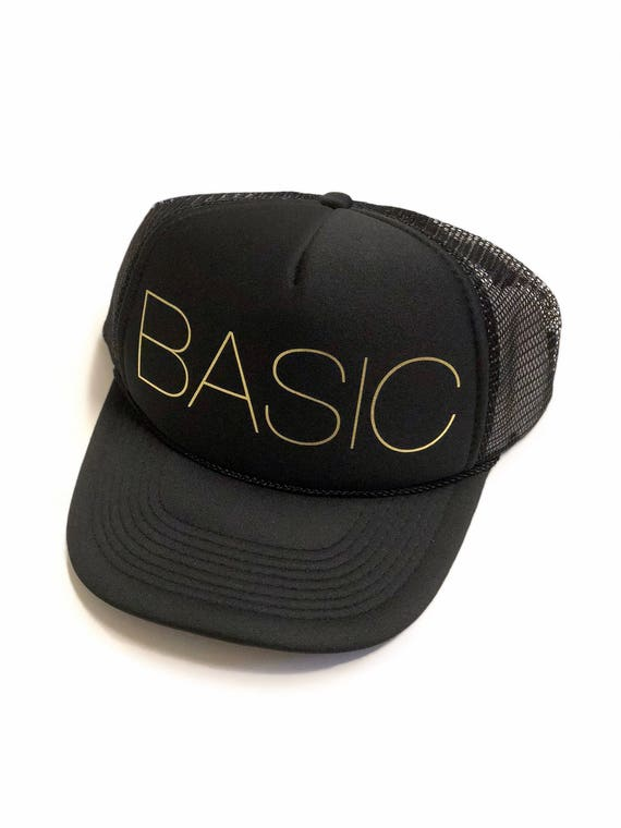 BASIC Trucker Hat |Gold Vinyl Print| Urban Hat| Streetwear| Made in Hawaii
