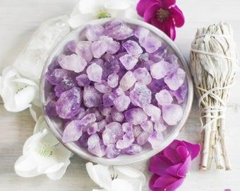 Amethyst Points - Healing Stones - Rough Stones - Raw Stones - Crystal Grid Reiki Stones - Meditation Stones - Pocket Stones - Loose Stones