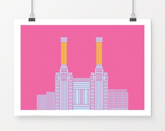 Battersea Power Station, London - unique wall art perfect for any room