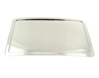 Shiny Bright Silver Rectangle Blank Belt Buckle