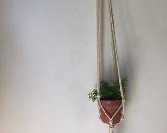 Macrame plant hanger, long macrame plant hanger, beaded macrame plant hanger, macrame, small plant hanger